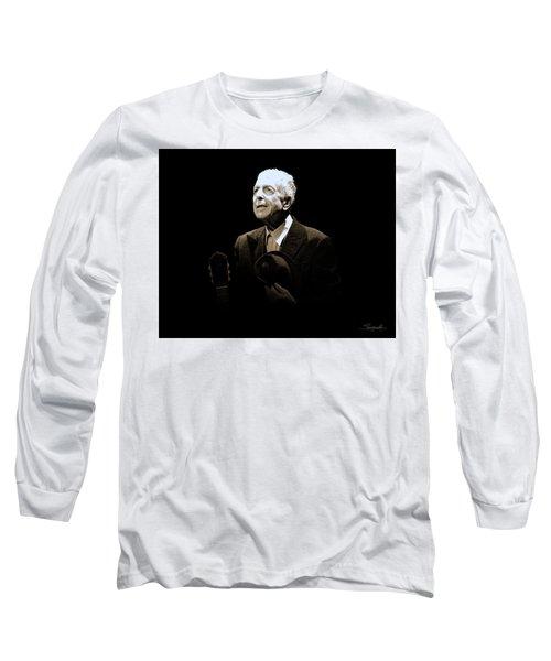 Portrait Of Leonard Cohen Long Sleeve T-Shirt