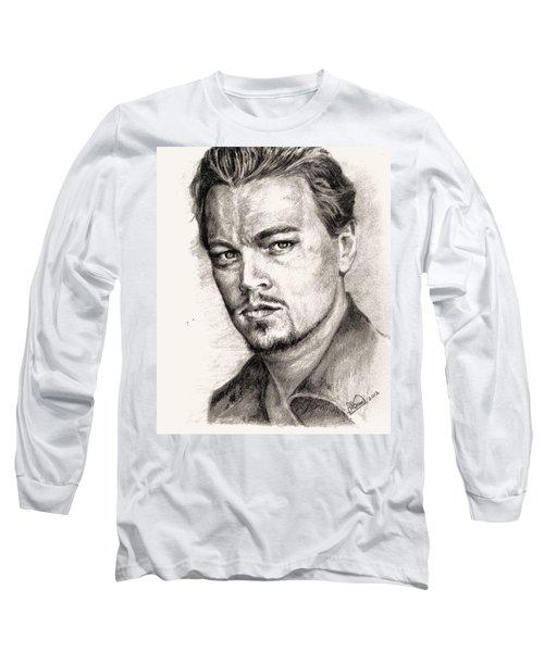 Leonardo Dicaprio Portrait Nr.2 Long Sleeve T-Shirt