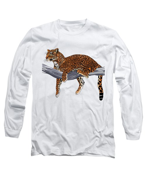 Leopard Long Sleeve T-Shirt by Alexandra Panaiotidi