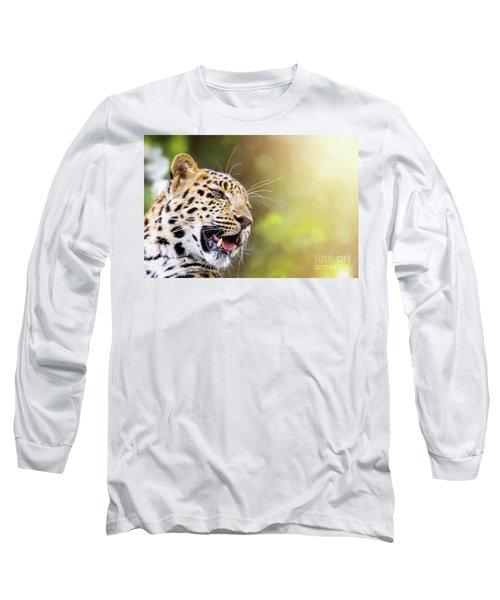 Leopard In Sunlight Long Sleeve T-Shirt