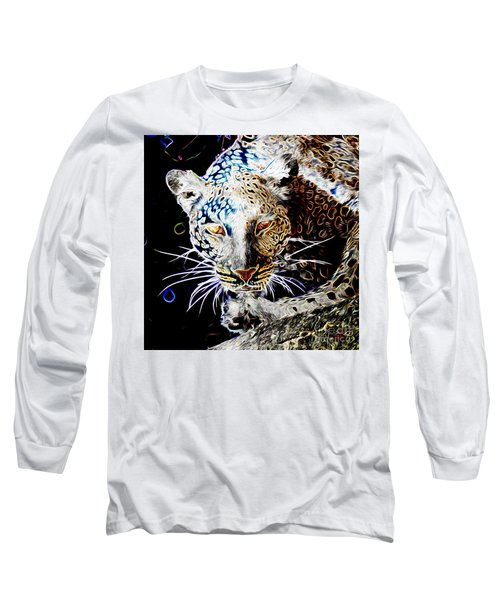 Leopard Long Sleeve T-Shirt by Zedi