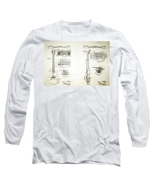 Les Paul Guitar Patent 1955 Long Sleeve T-Shirt