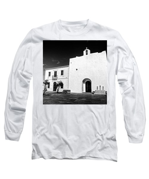 Fortified Church, Formentera Long Sleeve T-Shirt by John Edwards
