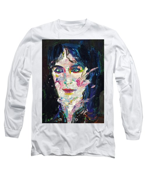 Long Sleeve T-Shirt featuring the painting Let's Feel Alive by Fabrizio Cassetta