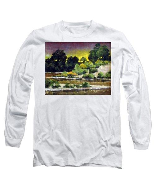 Lewis River At Woodland Long Sleeve T-Shirt