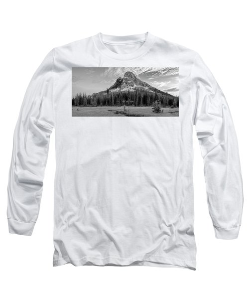 Long Sleeve T-Shirt featuring the photograph Liberty Mountain At Sunset by Jon Glaser