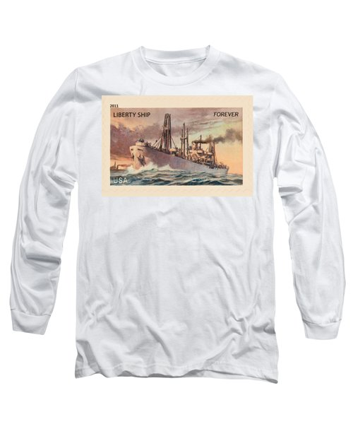 Liberty Ship Stamp Long Sleeve T-Shirt