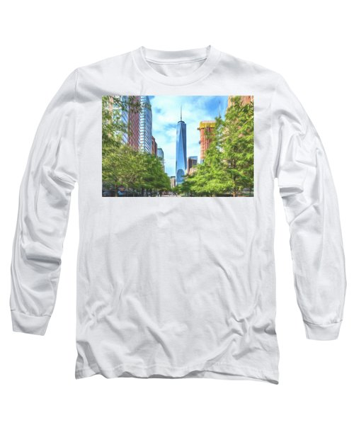 Long Sleeve T-Shirt featuring the photograph Liberty Tower by Theodore Jones
