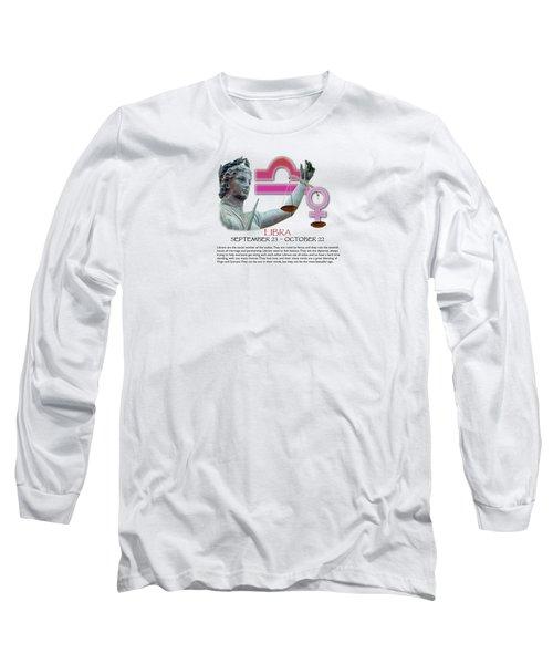 Libra Sun Sign Long Sleeve T-Shirt