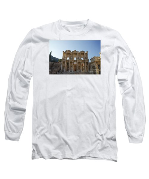 Library Of Ephesus Or Celsus Long Sleeve T-Shirt by Yuri Santin