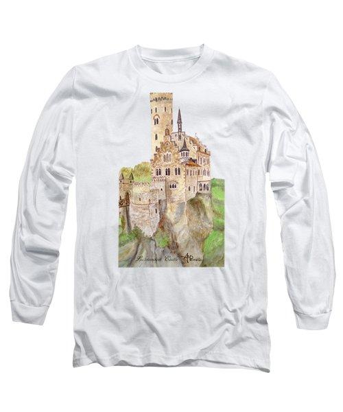 Lichtenstein Castle Long Sleeve T-Shirt by Angeles M Pomata