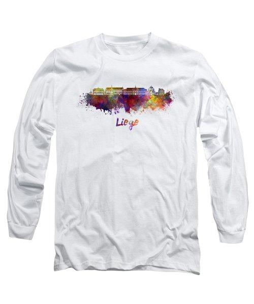 Liege Skyline In Watercolor Long Sleeve T-Shirt