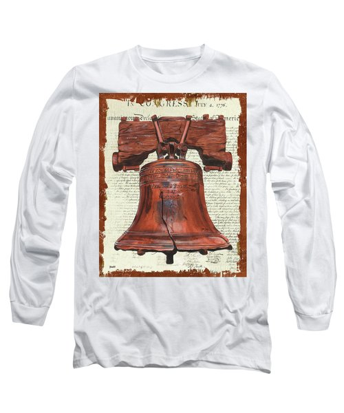 Life And Liberty Long Sleeve T-Shirt by Debbie DeWitt