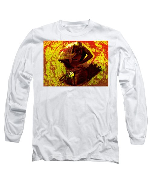 Long Sleeve T-Shirt featuring the digital art Life Baggage by Bliss Of Art