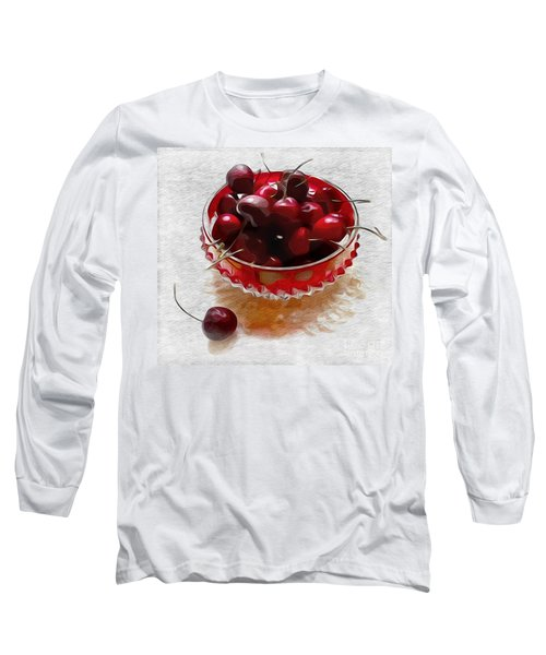Life Is A Bowl Of Cherries Long Sleeve T-Shirt by Alexis Rotella