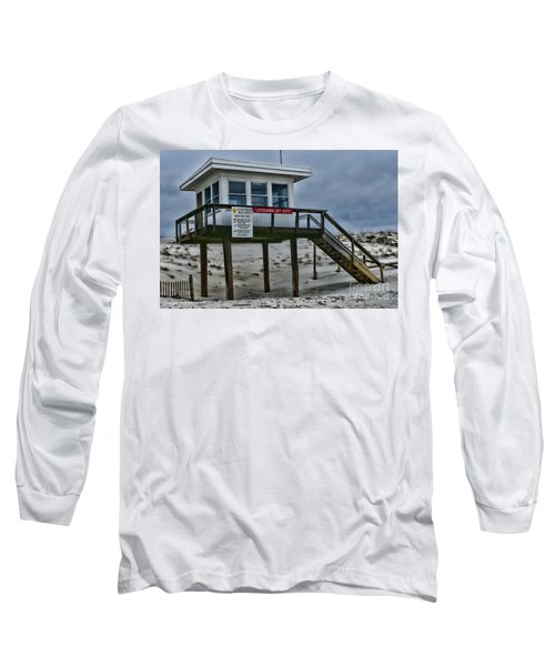 Long Sleeve T-Shirt featuring the photograph Lifeguard Station 1 by Paul Ward
