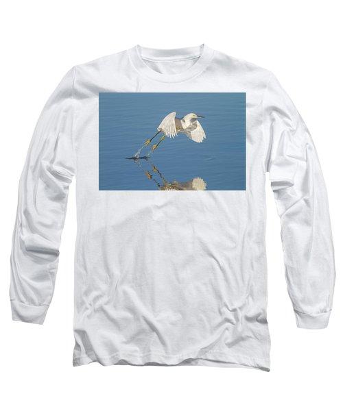 Lift Off- Snowy Egret Long Sleeve T-Shirt