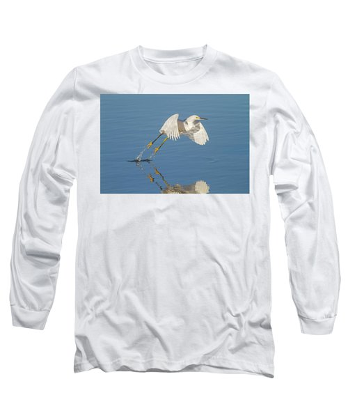 Lift Off- Snowy Egret Long Sleeve T-Shirt