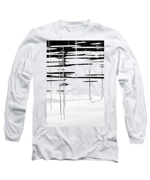 Light And Shadow Reeds Abstract Long Sleeve T-Shirt