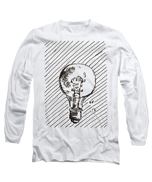 Light Bulb 1 2015 - Aceo Long Sleeve T-Shirt by Joseph A Langley