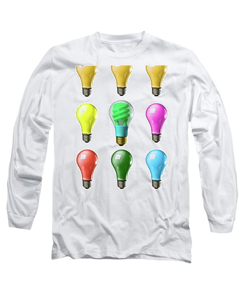 Light Bulbs Of A Different Color Long Sleeve T-Shirt