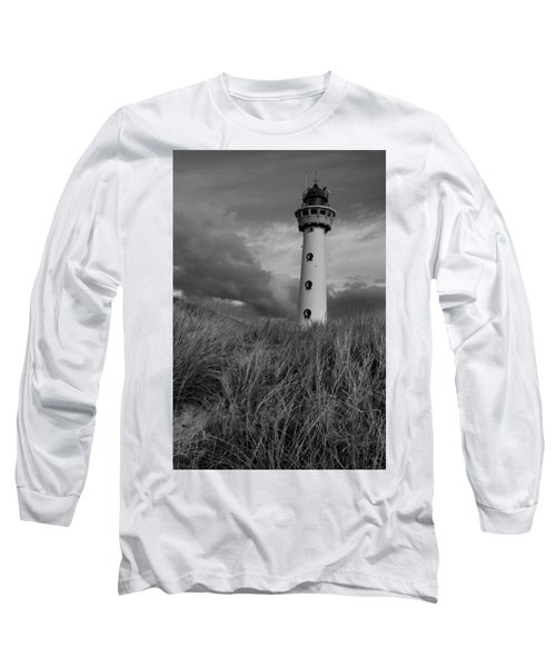 Lighthouse Bw Long Sleeve T-Shirt