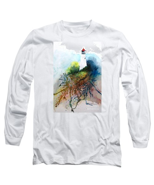 Lighthouse I - Original Sold Long Sleeve T-Shirt by Therese Alcorn