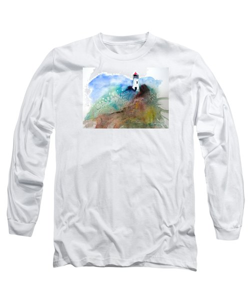 Long Sleeve T-Shirt featuring the painting Lighthouse II - Original Sold by Therese Alcorn
