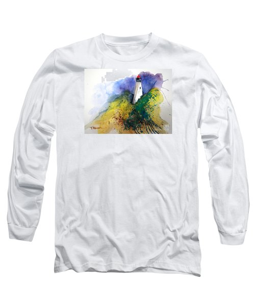 Long Sleeve T-Shirt featuring the painting Lighthouse IIi - Original Sold by Therese Alcorn