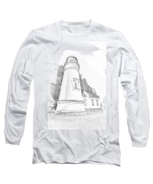 Lighthouse In Oregon Long Sleeve T-Shirt