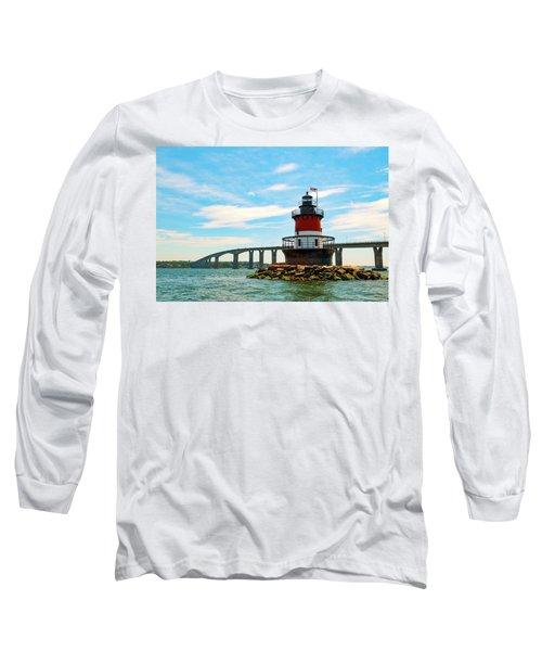 Lighthouse On A Small Island Long Sleeve T-Shirt