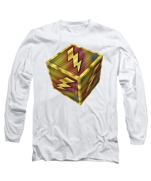 Lightning Bolt Cube - Transparent Long Sleeve T-Shirt