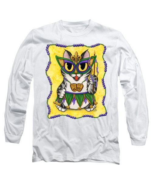 Lil Mardi Gras Cat Long Sleeve T-Shirt