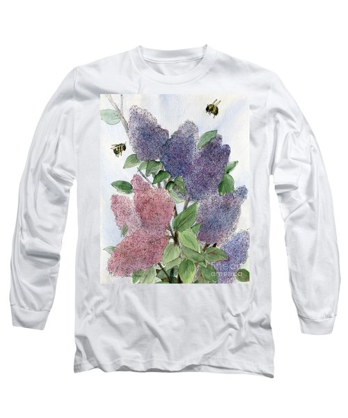Lilacs And Bees Long Sleeve T-Shirt