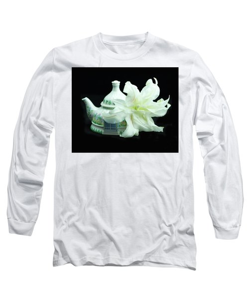 Lily And Teapot Long Sleeve T-Shirt