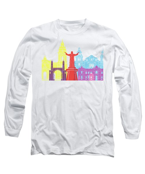 Lima Skyline Pop Long Sleeve T-Shirt