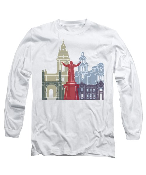 Lima Skyline Poster Long Sleeve T-Shirt
