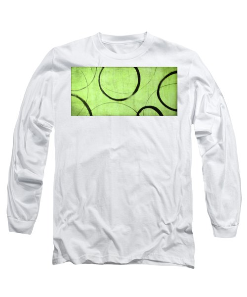 Long Sleeve T-Shirt featuring the painting Lime Ensos by Julie Niemela
