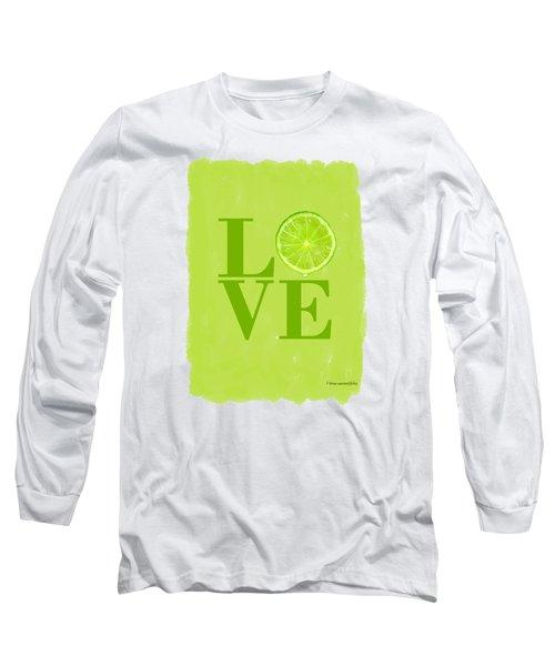Lime Long Sleeve T-Shirt by Mark Rogan