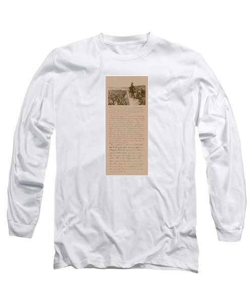 Lincoln And The Gettysburg Address Long Sleeve T-Shirt