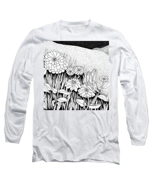 Linda's Garden Long Sleeve T-Shirt by Lou Belcher