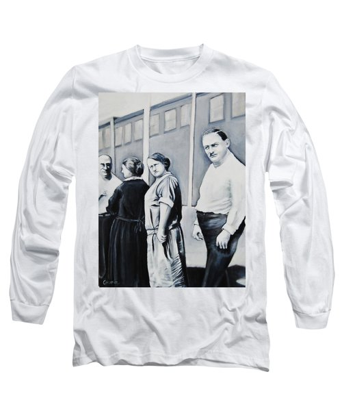 Line Of Peculiar People Long Sleeve T-Shirt by Jean Cormier