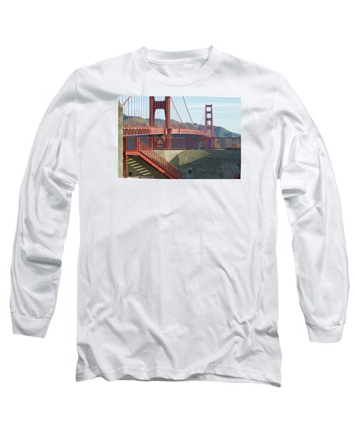 Long Sleeve T-Shirt featuring the photograph Linear Golden Gate Bridge by Steve Siri