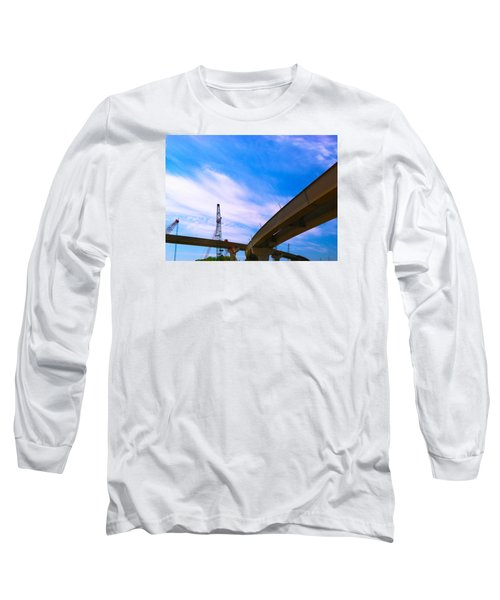 Long Sleeve T-Shirt featuring the photograph Lineing The Sky by Jamie Lynn