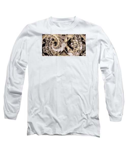 Linen And Silk Long Sleeve T-Shirt by Ron Bissett