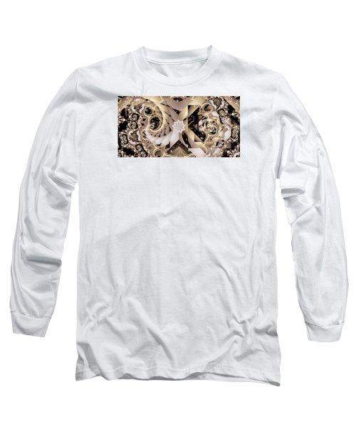 Linen And Silk Long Sleeve T-Shirt