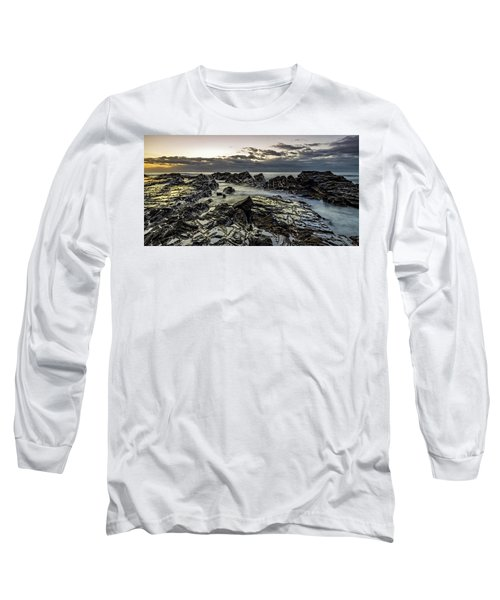 Lines Of Time Long Sleeve T-Shirt by Mark Lucey