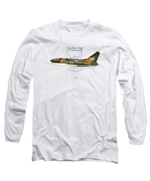 Ling-temco-vaught A-7d Corsair Long Sleeve T-Shirt by Arthur Eggers