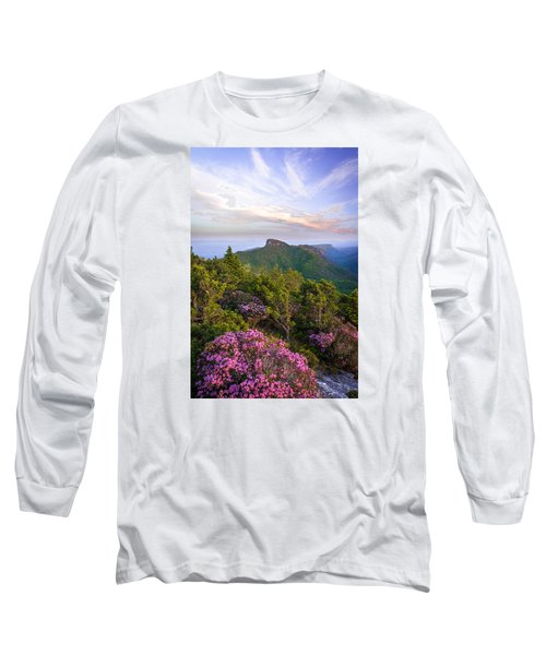Linville Gorge Spring Bloom Long Sleeve T-Shirt by Serge Skiba