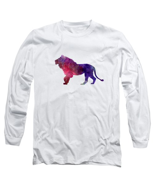 Lion 01 In Watercolor Long Sleeve T-Shirt by Pablo Romero